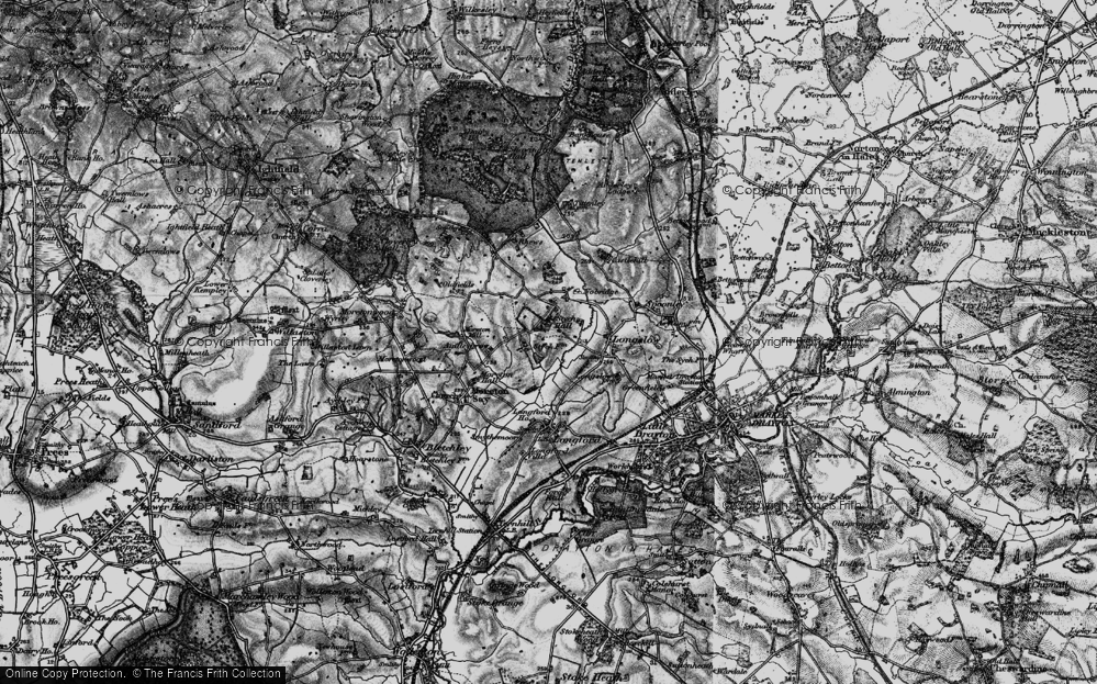 Old Map of Historic Map covering Audley Brow in 1897
