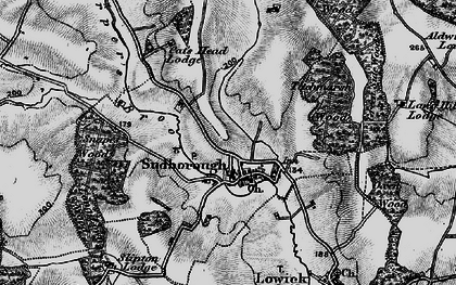 Old map of Titchmarsh Wood in 1898