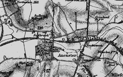 Old map of Sudbrook in 1895