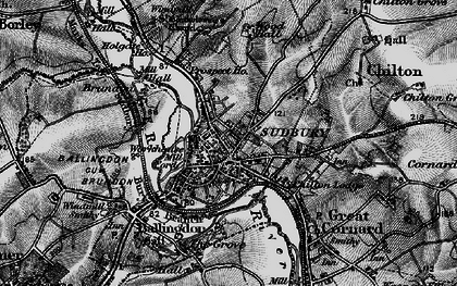 Old map of Sudbury in 1895