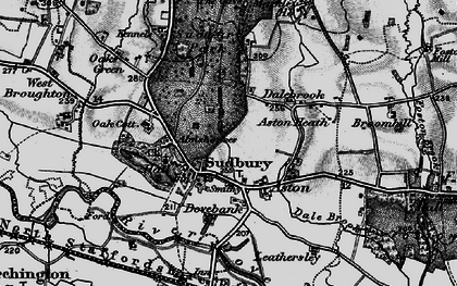 Old map of Aston Heath in 1897