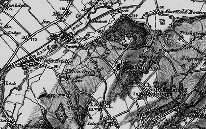 Old map of Sulhamstead in 1895