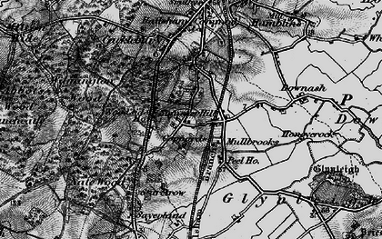 Old map of Woodside Hall in 1895