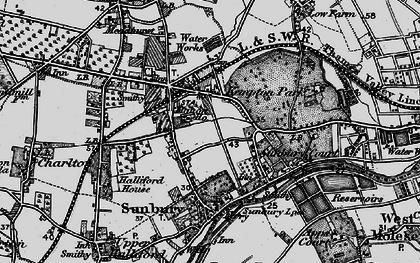 Old map of Sunbury in 1896