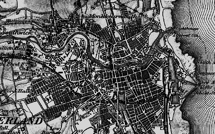 Old map of Sunderland in 1898