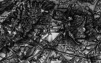 Old map of Sunningdale in 1896