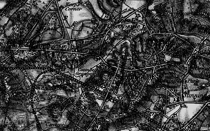 Old map of Sunninghill in 1896