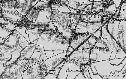 Old map of Sunny Hill in 1895