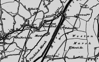 Old map of Wragg Marsh Ho in 1898