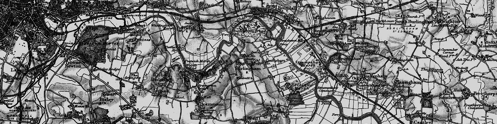 Old map of Surlingham in 1898