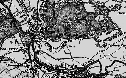 Old map of Sutton in 1895