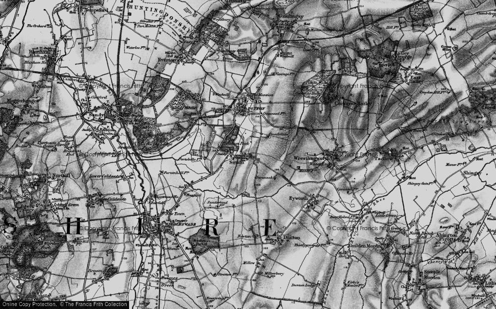 Old Map of Sutton, 1896 in 1896