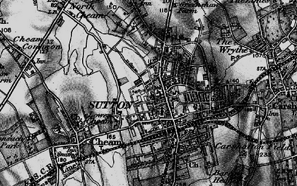 Old map of Sutton in 1896
