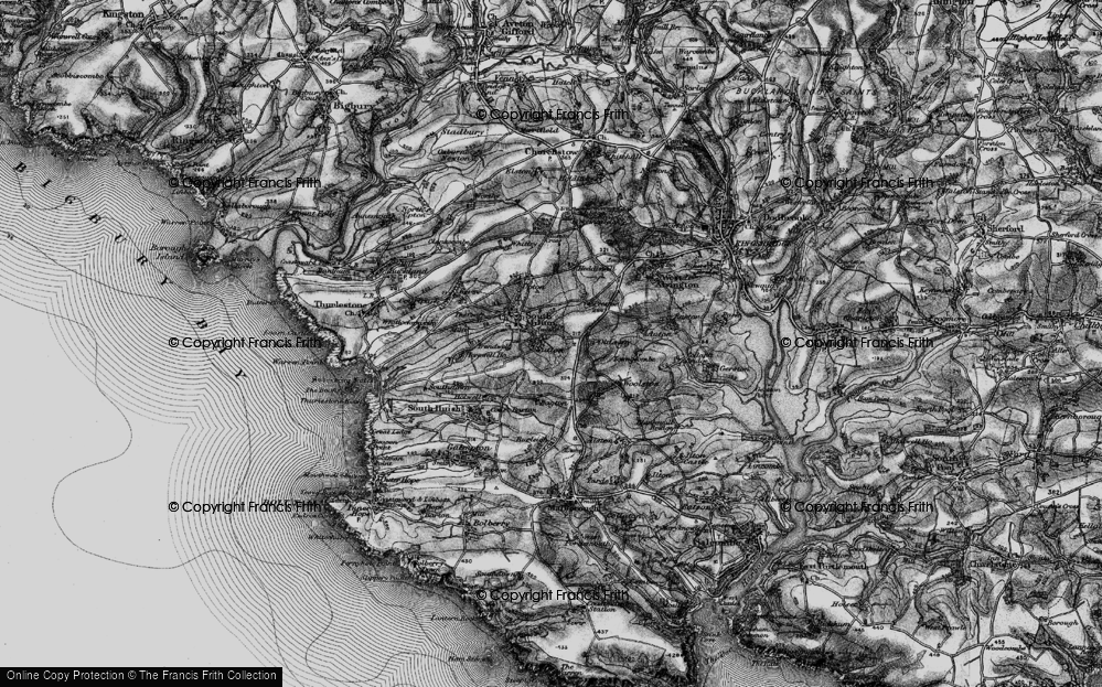 Old Map of Historic Map covering Bagton in 1897