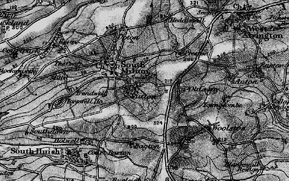 Old map of Bagton in 1897