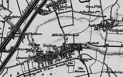 Old map of Sutton in 1898