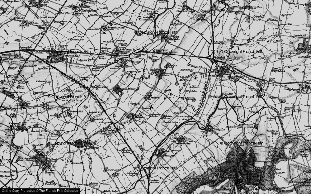 Old Map of Sutton, 1899 in 1899