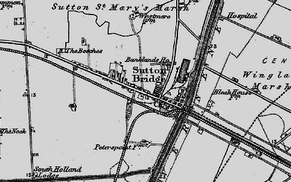 Old map of Sutton Bridge in 1898