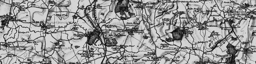 Old map of Ambion Hill in 1899