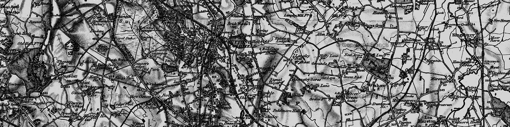 Old map of Sutton Coldfield in 1899