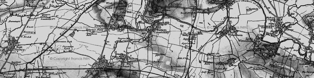 Old map of Sutton Courtenay in 1895
