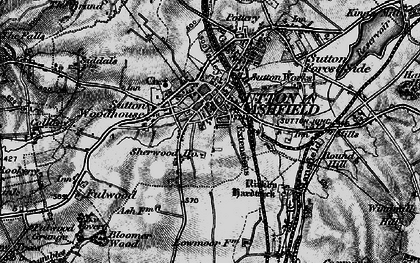 Old map of Sutton In Ashfield in 1896