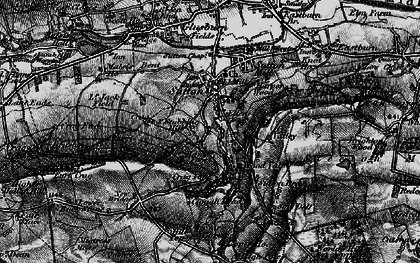 Old map of Sutton-in-Craven in 1898