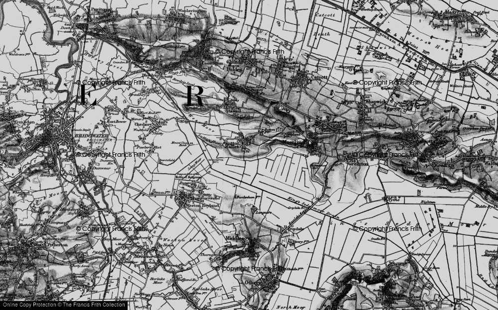 Old Map of Historic Map covering Ball Hill in 1898