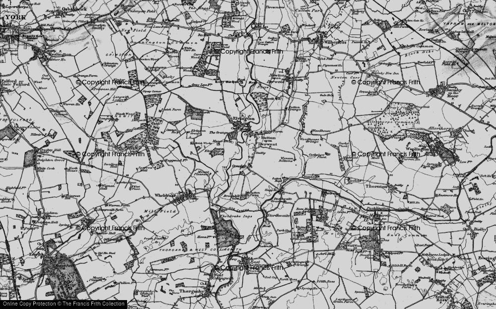 Old Map of Sutton upon Derwent, 1898 in 1898