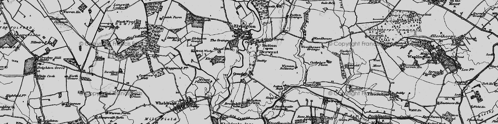 Old map of Wynam Bottoms in 1898