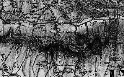 Old map of Sutton Valence in 1895