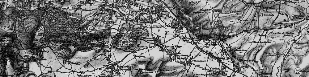 Old map of Whiten Hill in 1898