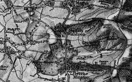 Old map of Bareden Down in 1898