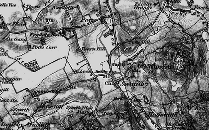 Old map of Swainby in 1898