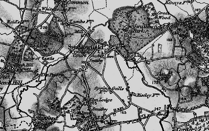 Old map of Wyvols Court in 1895