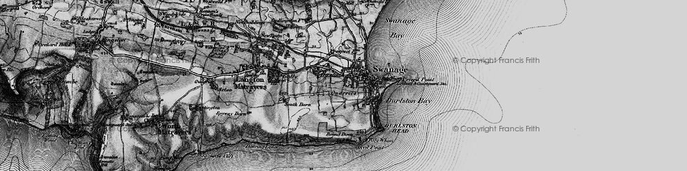 Old map of Tilly Whim Caves in 1897