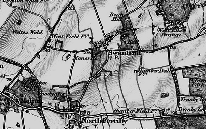 Old map of Swanland in 1895