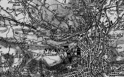 Old map of Swansea in 1897
