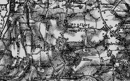 Old map of Swanwick in 1895