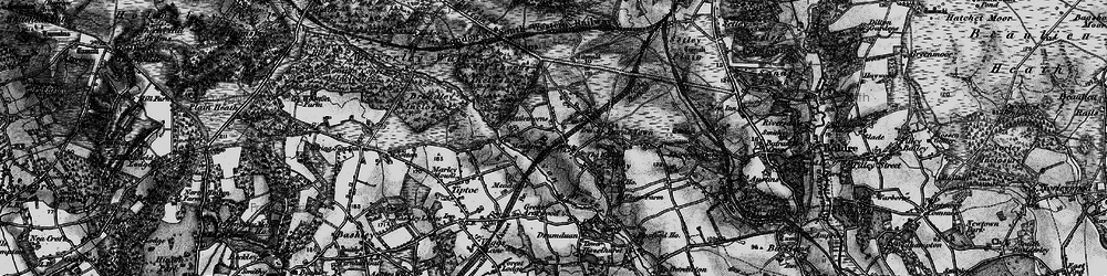 Old map of Sway in 1895