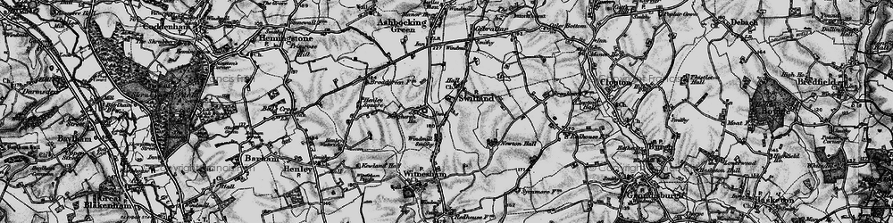 Old map of Agricultural Coll in 1896