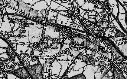 Old map of Swinton in 1896
