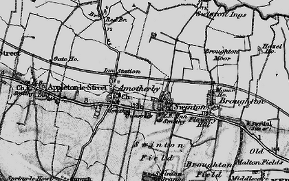 Old map of Swinton in 1898