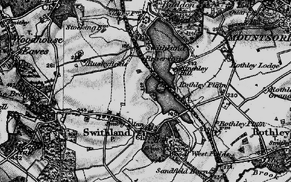 Old map of Swithland in 1899