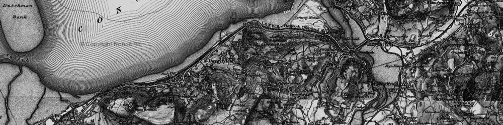 Old map of Sychnant Pass in 1899