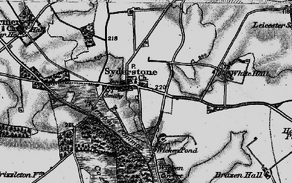 Old map of White Hall in 1898