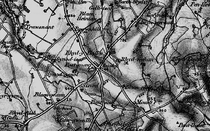 Old map of Bannau Duon in 1898