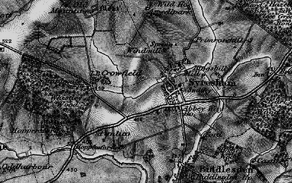 Old map of Abbey Way Ho in 1896