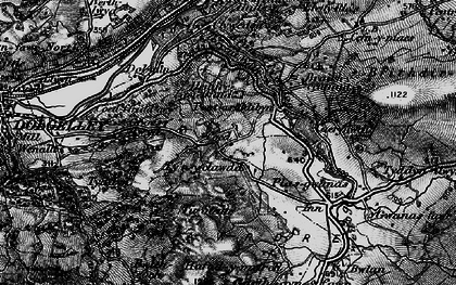 Old map of Afon Clywedog in 1899