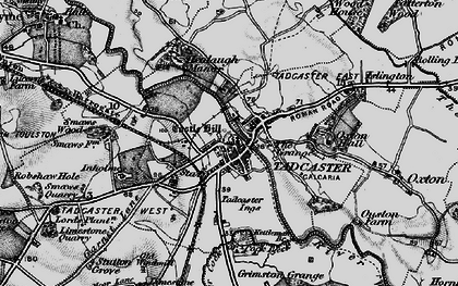 Old map of Tadcaster in 1898
